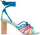 Sophia Webster rainbow tied sandals - women - Leather - 36