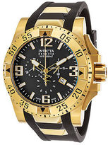 Invicta 90060 Men's Excursion Reserve Chrono Black Polyurethane & Dial 18K GP
