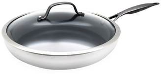 Green Pan Venice Noir 12-Inch Stainless Steel & Ceramic Fry Pan