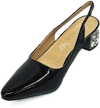 Whittall & Shon Womens Jewelbox Sling Back Closed Toe Block Heel Pumps