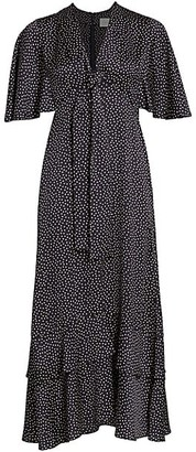 Alexis Kasany Polka Dot Midi Dress