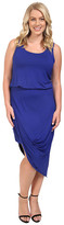 Culture Phit Plus Size Ginny Sleeveless Dress with Gathered Bottom