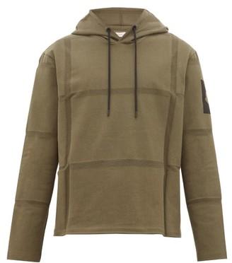 Craig Green 5 Moncler Woven Stripes Cotton Hooded Sweatshirt - Mens - Khaki