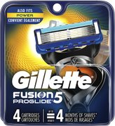 Gillette Fusion Proglide Manual Men's Razor Blade Refills 4-Count, .5-Pound- Packaging May Vary