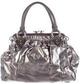 Marc Jacobs Metallic Canvas Stam Bag