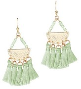 Gottex Plated Silk Tassel Drop Earrings.