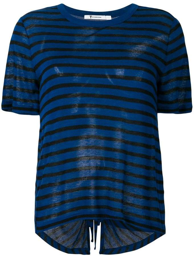 Alexander Wang striped cut out back T-shirt