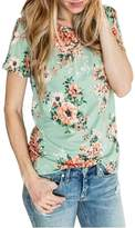 Akmipoem Women's Summer Casual Floral Printed Short Sleeve T-Shirt Blouse Tops