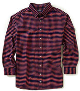 Daniel Cremieux Big & Tall Long-Sleeve Check Oxford Woven Shirt