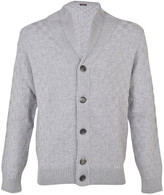 Barba Checkered Pattern Cardigan