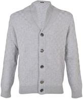 Barba Checkered Pattern Cardigan