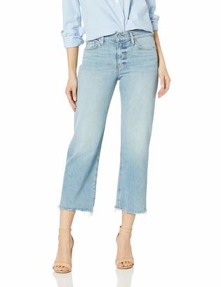 Hudson Women's Stella Midrise Crop Straight 5 Pocket Jean