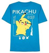 Pokemon Boys' 025 Graphic T-Shirt Blue