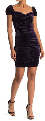 Lush Velvet Sweetheart Ruched Mini Dress