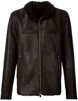 Drome zip front jacket - men - Leather - XL