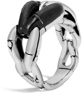 John Hardy Sterling Silver Bamboo Ring with Black Onyx