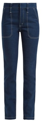 Chloé Contrast-stitch Jeans - Womens - Denim