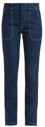 Chloé Contrast-stitch Jeans - Womens - Denim