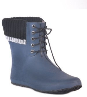 dav Coachella Lace Waterproof Women's Ankle-Height Rain Boot Women's Shoes
