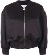 Carven cropped flower bomber jacket - women - Polyester/Acetate/Viscose - 38