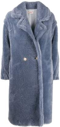 Yves Salomon double-breasted faux fur coat