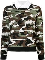 Veronica Beard Alpha Camo jumper - women - Cotton/Nylon/Polyester/Metallic Fibre - XS