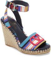 Valentino Garavani VLOGO Pop Baiadera Espadrille Platform Wedge Sandal
