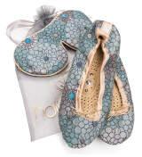 Holistic Silk Eye Mask Slipper Gift Set - Peacock (Various Sizes) - S