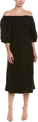 Tibi Sophia Silk Midi Dress