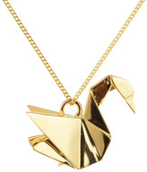 Origami Jewellery Necklace Swan Silver