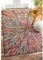 nuLoom Retro Rainbow Firework Multi Kids Rug (4'1 x 6')