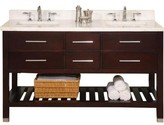"Priva 60"" Open Double Bathroom Vanity Base Only Empire Industries"