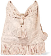 Melissa Odabash Mauritius fringed knitted cotton shoulder bag