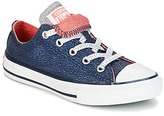 Converse CHUCK TAYLOR ALL STAR DOUBLE TONGUE SHINE + SHIMMER OX MIDNIGHT Marine / Coral / White