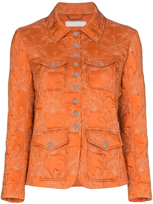Chloé Embroidered Silk Jacket