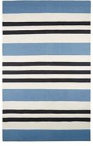 Madeline Weinrib Dippy Cotton Carpet-BLUE
