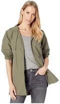 Herschel Hooded Jumper (Dusty Olive) Women's Clothing