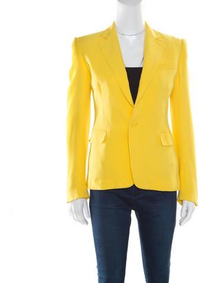 Ralph Lauren Collection Yellow Silk Crepe Keaton Jacket S