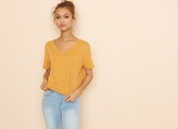 Garage V Neck Boxy Tee