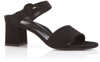 Marion Parke Brianna Camo-Print Buckle Slide Sandals