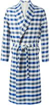 La Perla long checked night robe