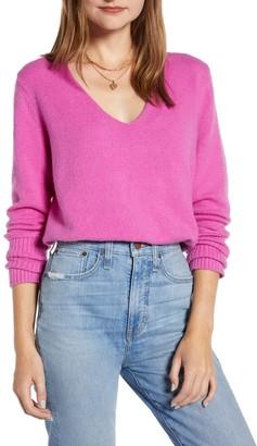 Something Navy V-Neck Sweater