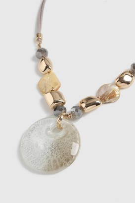 Wallis Glass Stone Beaded Necklace