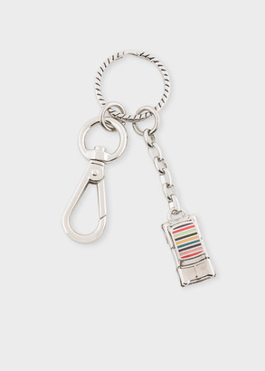 Paul Smith Silver Stripe 'Mini' Car Keyring
