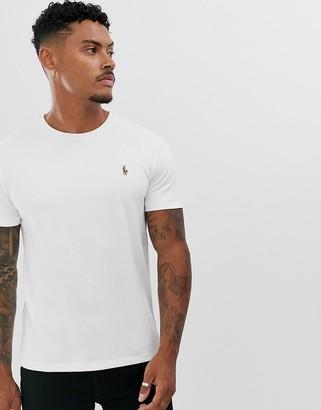 Polo Ralph Lauren pima cotton multi player logo t-shirt in white