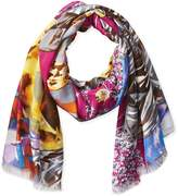 La Fiorentina Women's Gem and Skull Fringe Scarf