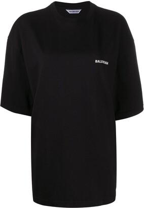 Balenciaga slogan-print oversized T-shirt