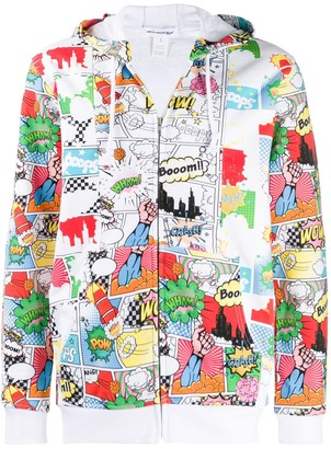 Comme des Garçons Shirt Cartoon Print Hooded Jacket
