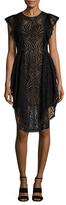 BCBGMAXAZRIA Christiania Lace Knee Length Dress