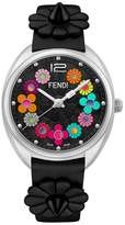 Fendi Momento Floral Leather Strap Watch, 34mm